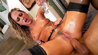 Two cocks in oiled whore - carter cruise