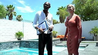 Blonde Dee Williams gets her holes licked and fucked by her black friend