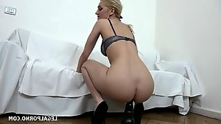 Girls riding huge ones