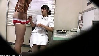 Japanese nurse gets fucked in a hospital and filmed on a hidden camera