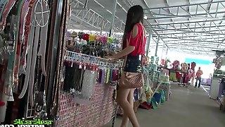 Sex-appeal Filipina girl Bew shows striptease to one stranger man