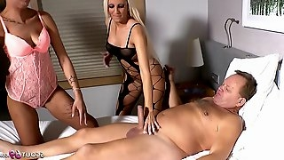 German old Uncle Fuck Young Step Niece and BFF in FFM 3Some